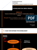 Qualidade e Durabilidade Das Obras Urbanas -Módulo III