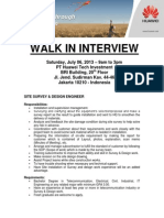 20130703 Huawei Walk in Interview Jakarta Jul 6 2013