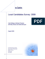 Report on a Survey of Candidates at the June 2009 Local Elections in England