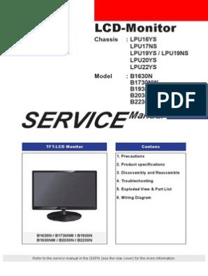 Lcd Monitor Wiring Diagram. . Wiring Diagram on