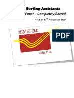 Postal Assistants Previous Paper - Gtuexam.co.In