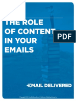 Role of Content in Emails
