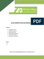 Acta Constitutiva de Proyectos