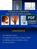 Physical Growth Maturity Indicators