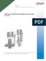 Valvulas de Expansion Termostaticas Para Amoniaco Tipo TEA