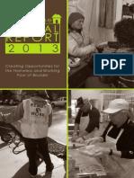 Bridge House Annual Report 2013