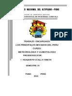 Principales Nevados Del Peru