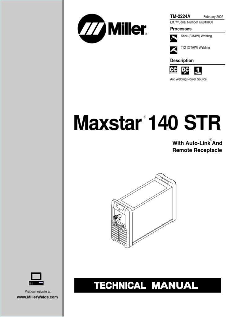 Maxstar140str Kk013519 Power Inverter Welding Welder Receptacle Wiring Diagram