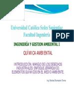 Clase 3 (Quimica Ambiental Manejo de Desechos Industriales)