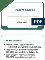 Learn Microsoft Access Advanced