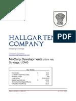 Hallgarten & Company NioCorp Developments Report