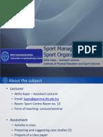 Sport Management ERASMUS Complete