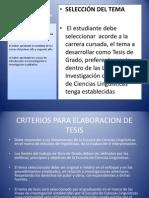 Elaboración de Protocolo de Tesis