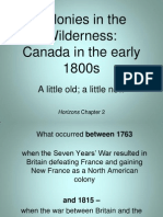colonies in the wilderness early 19th century -