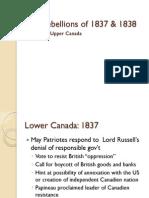 rebellions of 1837  1838