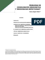 Problemas de Consolidacion Democratica y Democracias Defectuosas - Hans Jurgen Puhle