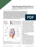 Knee Pain Part I