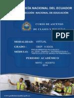 Modulo No. 3 Procedimientos Policiales Pj-Devip, Dinapen 2013