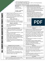 Senior Graduation Info 2014