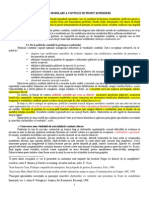 Curs 3-8 - Tehnici de Modelare a Contului de Profit Si Pierdere