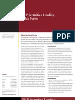 SP Securities Lending Index Series Factsheet