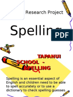 Spellodrome Action Research Project