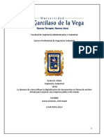 Plan de Tesis - Ditializacion