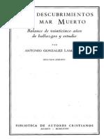 Los Descubrimientos Del Mar Muerto - Antonio Gonzalez Lamadrid