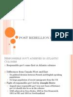 post rebellion period