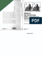 UNFV ANTROPOLOGIA Becker, Howard - Manual de Escritura Para Científicos Sociales