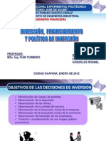 Inversion Financiamiento y Politica Inversion