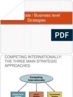 Corporate-Business Level Strategies