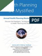 FREE - Master class in Health Planning - Dubai - 3rd June 2014