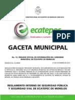 Reglamento Int de Seg Pub y Vial ECATEPEC