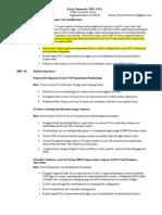 Resume Executive Data Analysis- Kevin Chenoweth