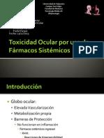 Toxicidad Ocular por uso de Fármacos Sistémicos(2).pptx
