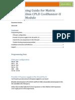 ProgrammingGuideforMatrixGlitcherXilinxCPLDCoolRunner-IIXC2C64AModule1.0