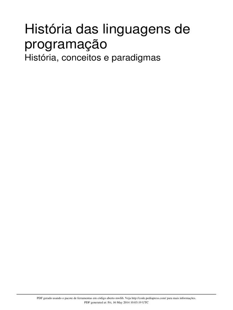 Histria das linguagens de programao fandeluxe Choice Image