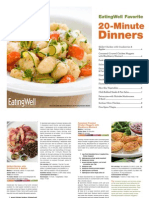 EatingWell 20 Minute Dinner Recipes Cookbook