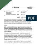 Feldman Metro liability memo