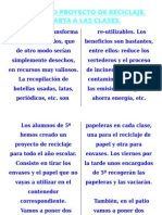 Reciclaje Carta a Las Clases
