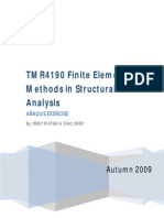 TMR4190 Finite Element Methods in Structural Analysis