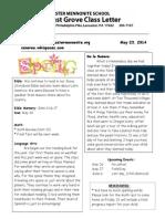 Newsletter 5-23-14