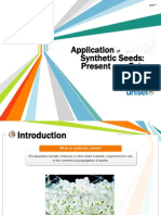 Application of Synthetic Seeds - Present and the Future