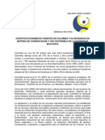 Incentivos cos Vigentes en Colombia