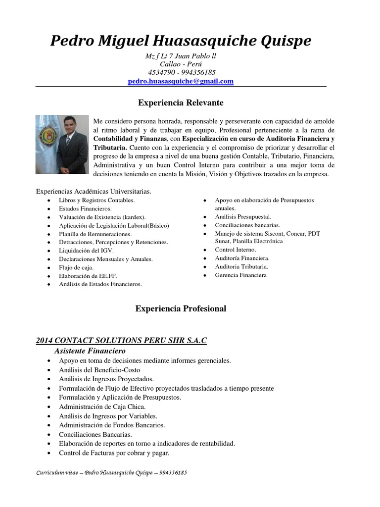 Excelente Cuentas Por Pagar Gerente Plantilla De Curriculum Vitae ...