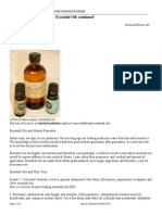 Natural First Aid Kit Part 2 Essential Oils Continued