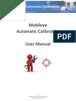 Mobileye Automatic Calibration - User Manual v0.8