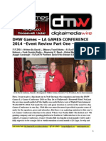 DMW Games LA Games Conference 2014 - Event Review Part One - David L. $Money Train$ Watts - FuTurXTV - 5-5-2014