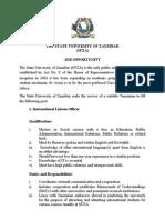 Career Opportunity - International Liaison Officer